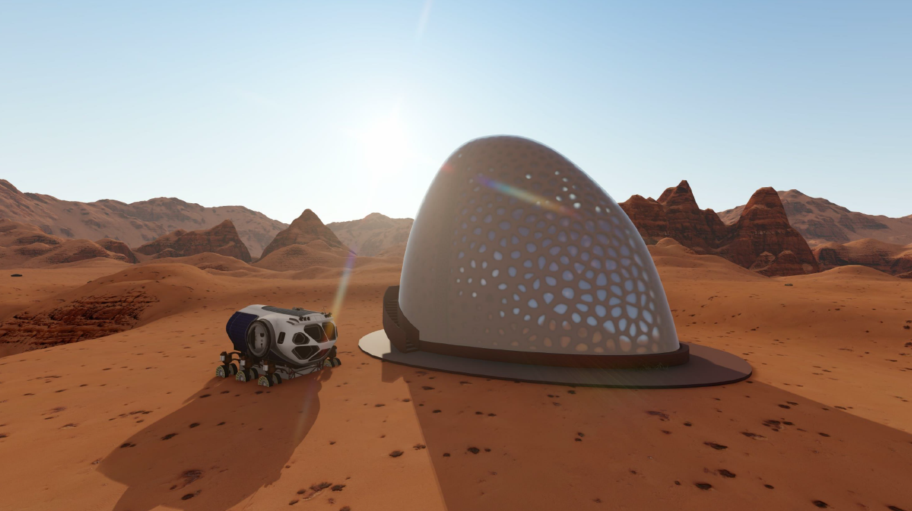 first houses on Mars